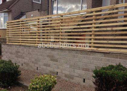 Retaining Wall, Fence & Patio